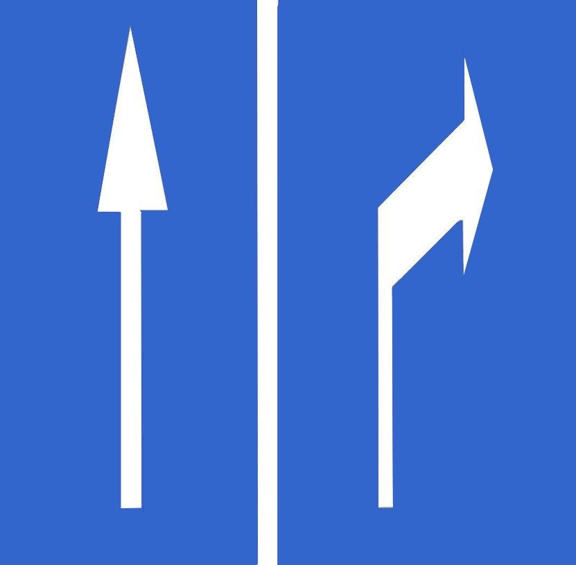 如图所示路面上施划的导向箭头线表示车辆应该行驶的